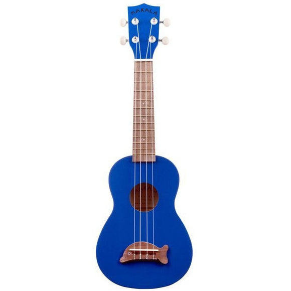 Makala Metallic Blue Soprano Dolphin Ukulele with Bag