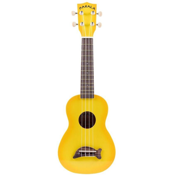 Makala Soprano Dolphin Ukulele- Yellowburst with Bag