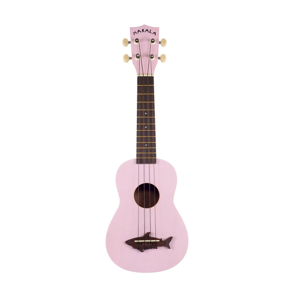 Makala Pink Soprano Shark Ukulele with Bag
