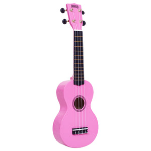 Mahalo Rainbow Series Pink Soprano Ukulele with Bag