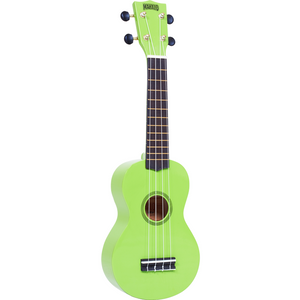 Mahalo Rainbow Series Green Soprano Ukulele with Bag