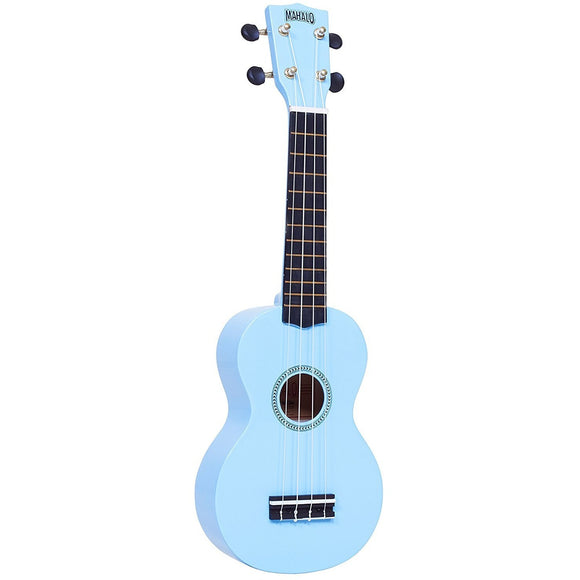 Mahalo Rainbow Series Light Blue Soprano Ukulele with Bag