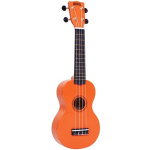 Mahalo Rainbow Series Orange Soprano Ukulele with Bag