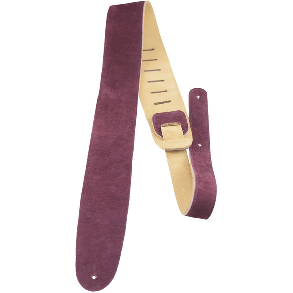 Perri's Leathers P25S-210 Burgundy Suede Strap