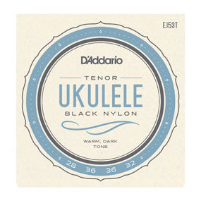 D'addario EJ53T Black Nylon Tenor Strings