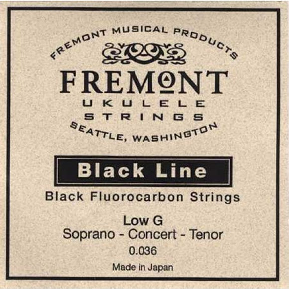 Fremont STR-FG Blackline Hard Tension Low G Ukulele String