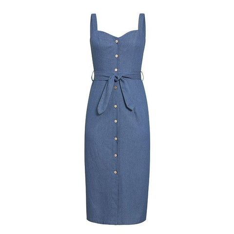 Long Denim Dress beautyleesh.com