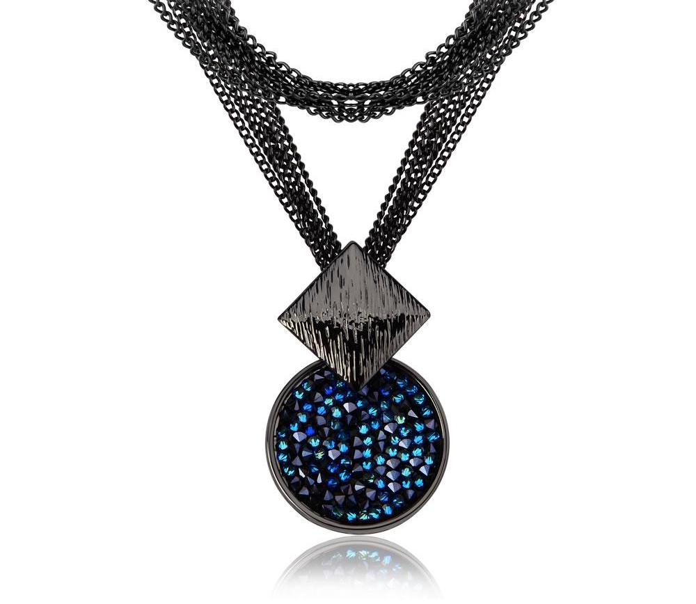 Long Necklaces of Blue Crystals from Swarovski beautyleesh.com