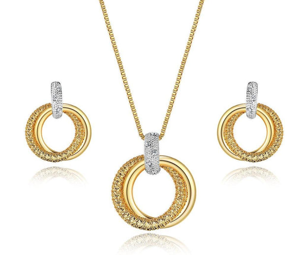 Double Circle Jewelry Sets beautyleesh.com