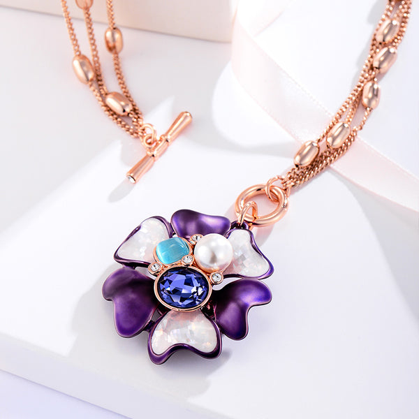 Flower Long Necklace beautyleesh.com