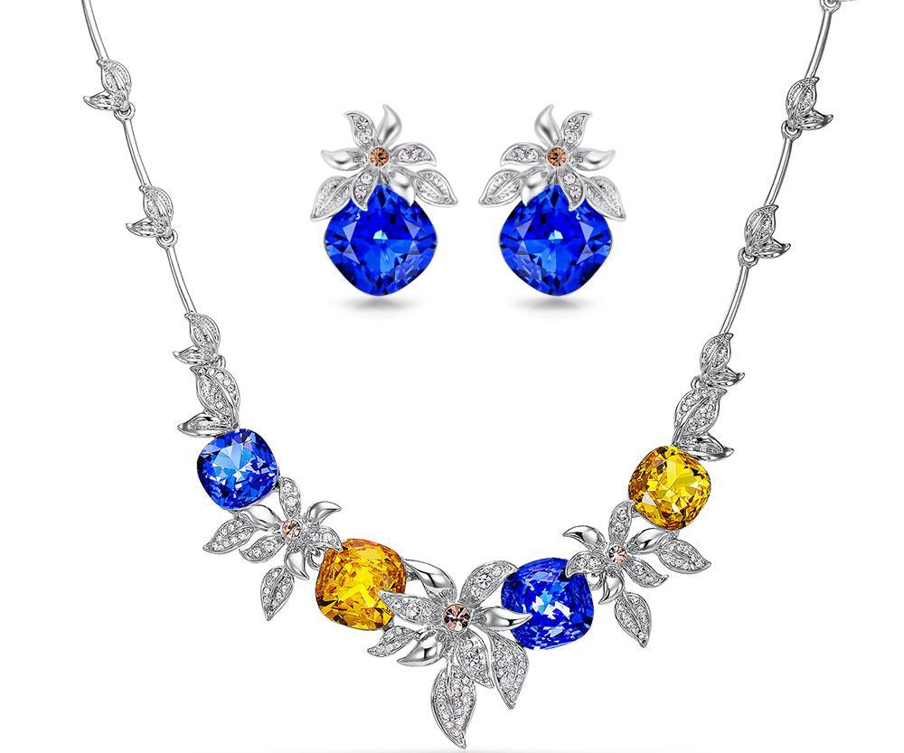 Luxury Jewelry Set with Crystal Flowers beautyleesh.com