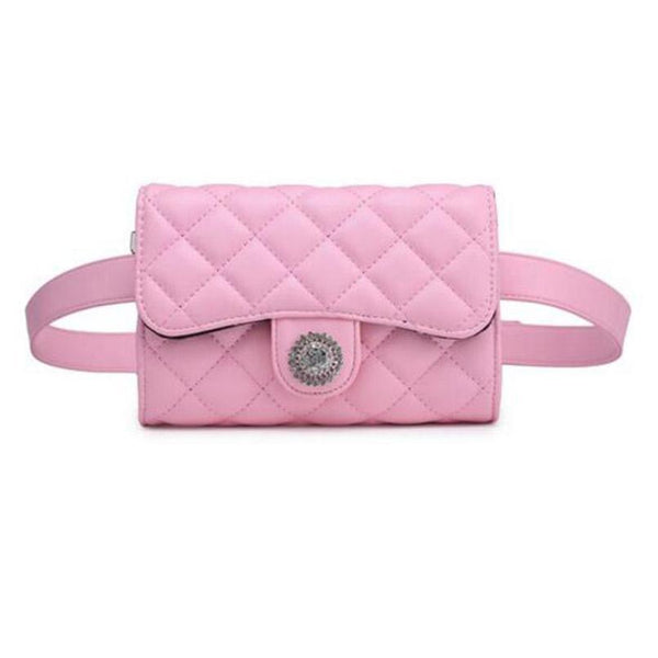 Pink/Black Waist Bag beautyleesh.com