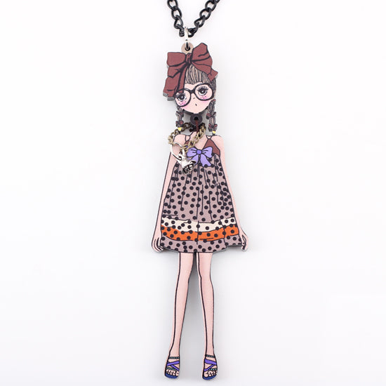Nerdy Doll Necklace beautyleesh.com