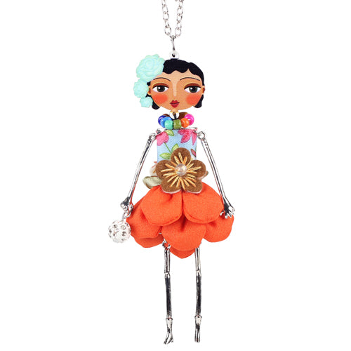 Flower Fashion Handmade Doll Necklace beautyleesh.com