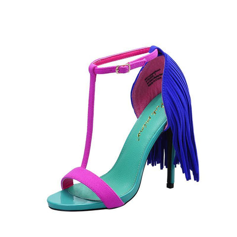 Colorful High Heels Sandals