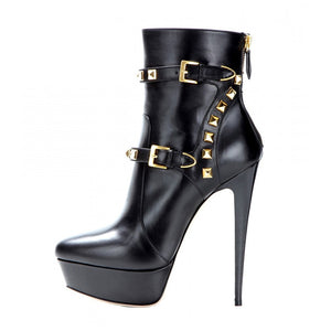 Metal Plates Ankle Boots beautyleesh.com