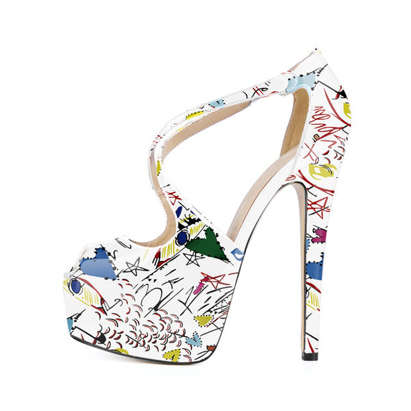 Colorful Peep Toe Pumps beautyleesh.com