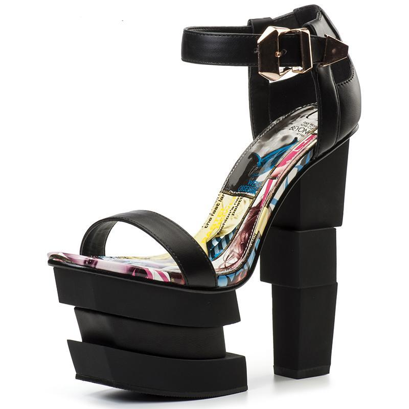 Black High Heels Sandals beautyleesh.com