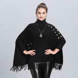 High Neck Poncho beautyleesh.com