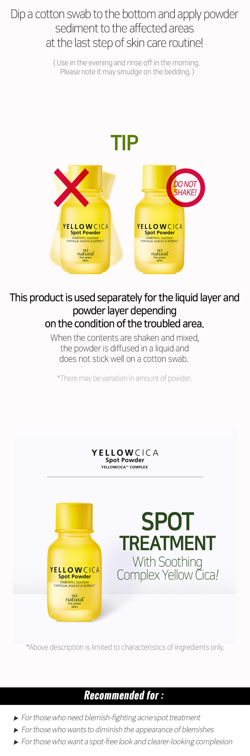 YELLOW CICA SPOT POWDER