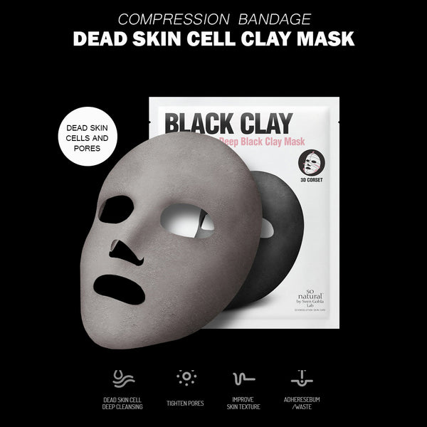 FACIAL DESIGN BLACK CLAY MASK(4pack bundle)
