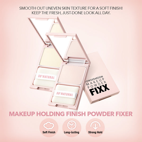 MAKEUP HOLDING FINISH POWDER FIXER -Natural Yellow