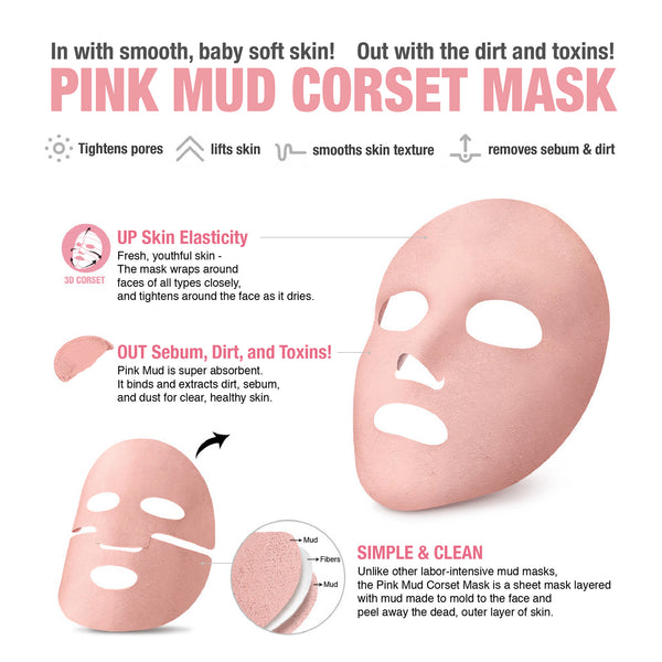 FACIAL DESIGN PINK MUD MASK (4pack bundle)