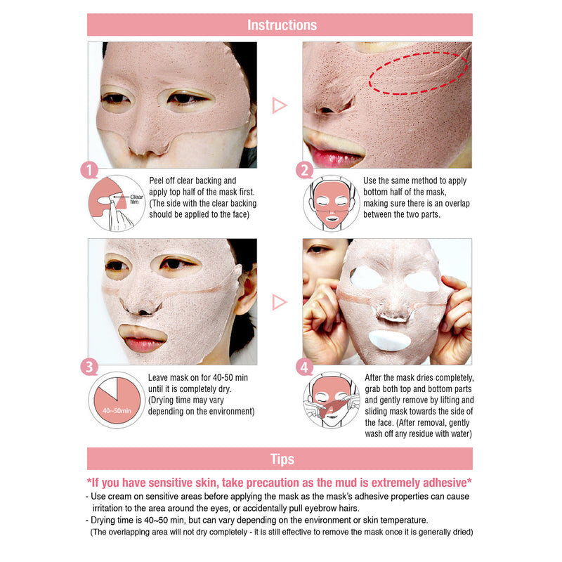 FACIAL DESIGN PINK MUD MASK
