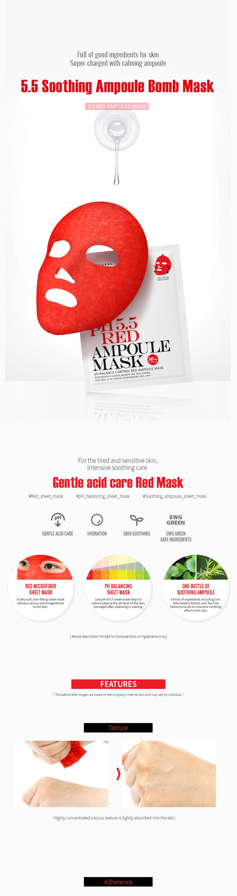 PH 5.5 RED AMPOULE MASK