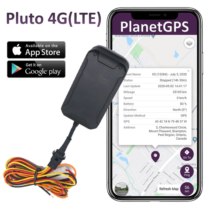 Pluto 4G Hard-Wired GPS Tracker