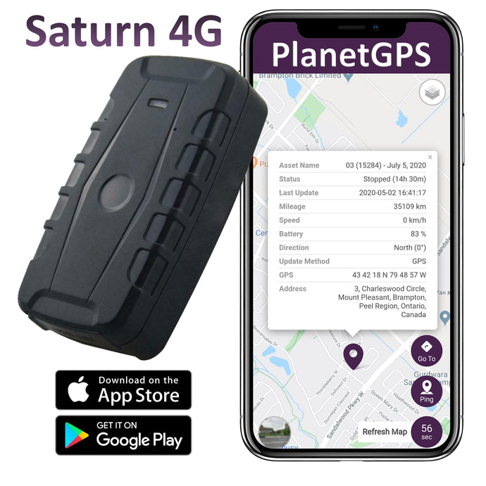Saturn 4G (LTE) Magnetic GPS Tracker | Up to 2 Months Battery Life