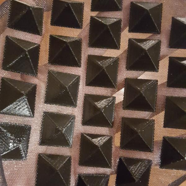 Cosplay / Costume Pyramid Studs - Fabric Squares - PLA