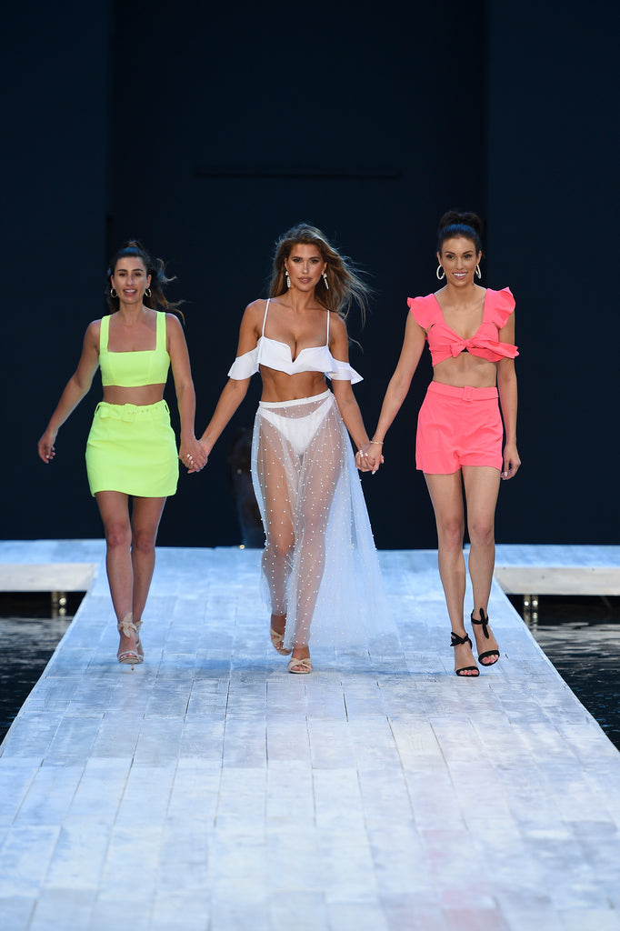 Covet Shoes Lil and Emm Founders Emma Knieriem and Sheree Lily with Kara Del Toro Miami Swim Week