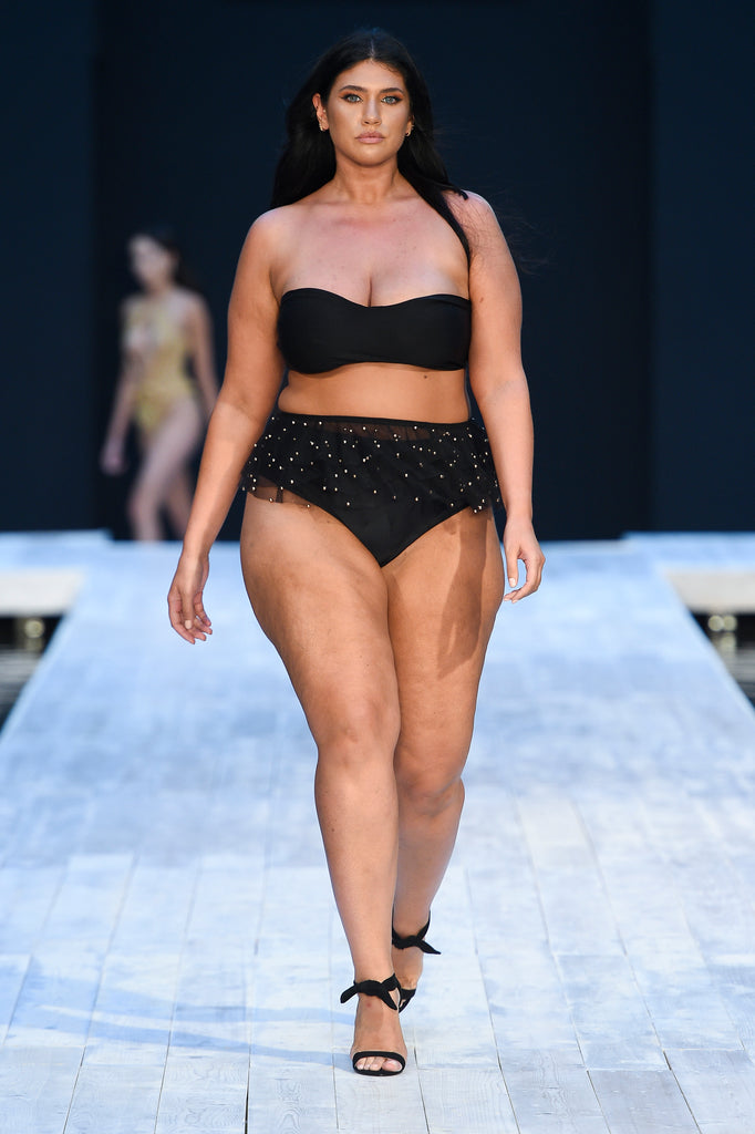 Covet Shoes Jennifer Atilemile Miami Swim Week wearing INDY Black Stiletto
