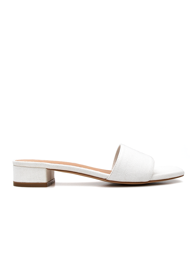 Off White Low Block Heel Covet Shoes
