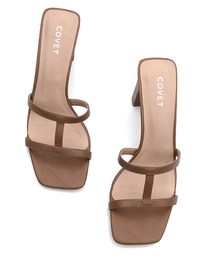 Pair of Tan Heels from Covet Shoes