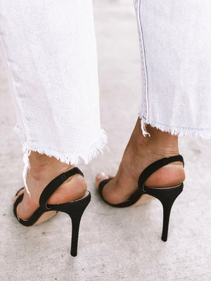 ASHIE Black Slingbacks