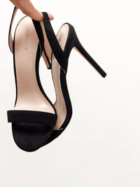 Pair of Black Slingbacks Stiletto Heels