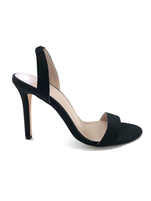 Side View Black Heels specifically black stiletto slingbacks