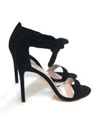 Indy Black Front Tie Stiletto