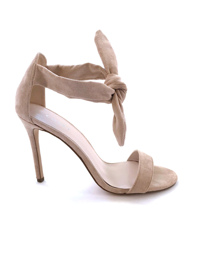 Indy Nude Front Tie Stiletto