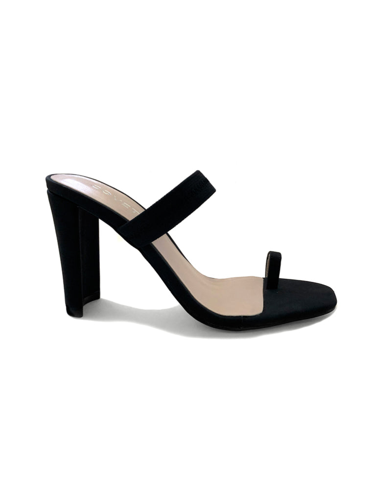 Kari Black Slim Block Mule