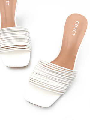 NALA Off White Stiletto Heels