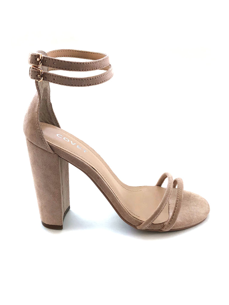 4bfcdca59cb Rach Nude Double Strap Block Heel – COVET SHOES