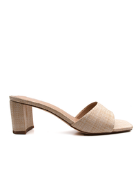 Profile image of woven Block Heel in a natural colour from Covet Shoes