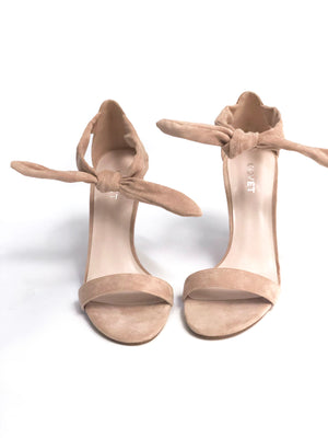 Covet Shoes Indy Nude Front Tie Stiletto Women's Shoes, Women's Heels, Sandals, High Heels, Stiletto Heels, Stiletto Sandals