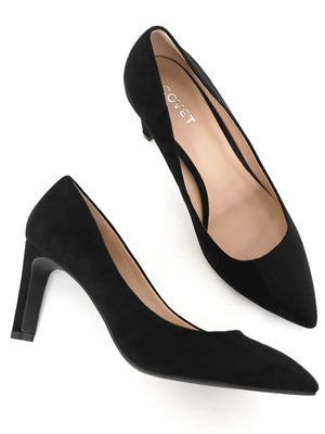 Birds Eye View of Black Pumps