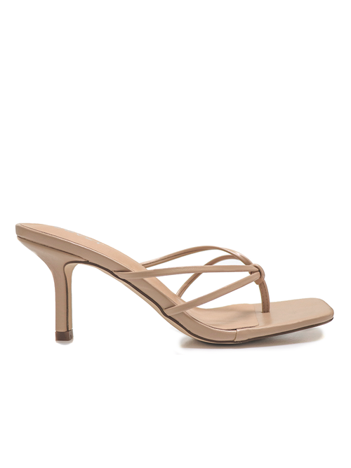 Nude Mid Stiletto Heel - NAOMI by Covet Shoes