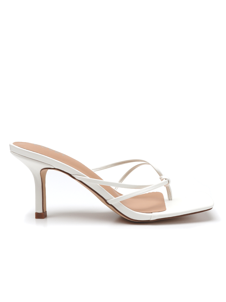 NAOMI Off White Stiletto Heels