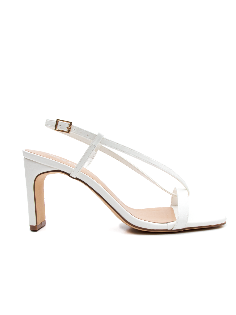 TEGAN Off White Block Heels